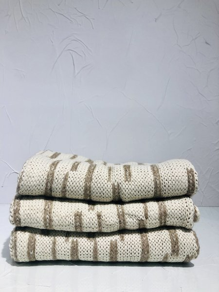 Uma Raquel Davidowicz Vietna Double Face Knitted Scarf - Off White