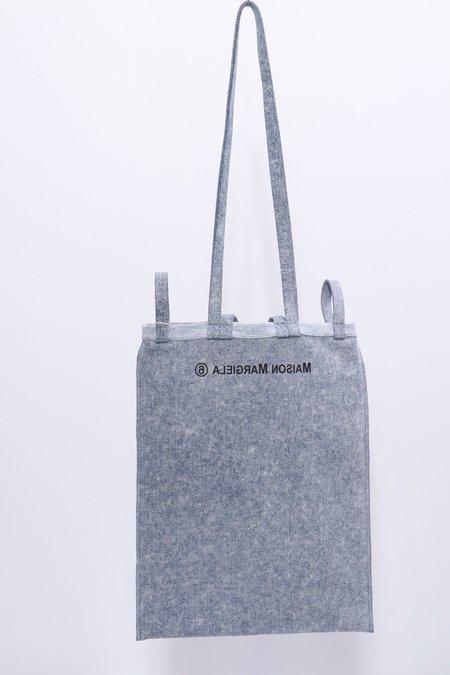 MM6 Maison Margiela Inside Out Logo Bag - Denim