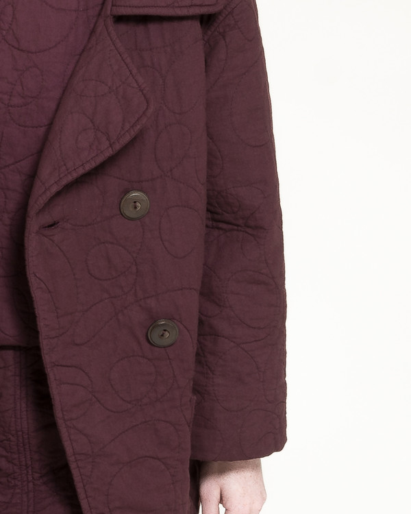 Caron Callahan Quilted Levin Coat in Raisin