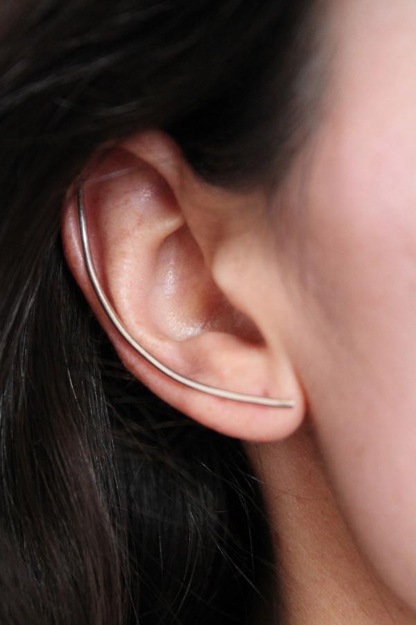 Lumo Silver XL Bar Earring