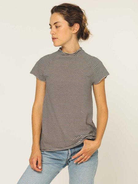 Calder Blake Shirin Stripe Top - natural/navy stripe