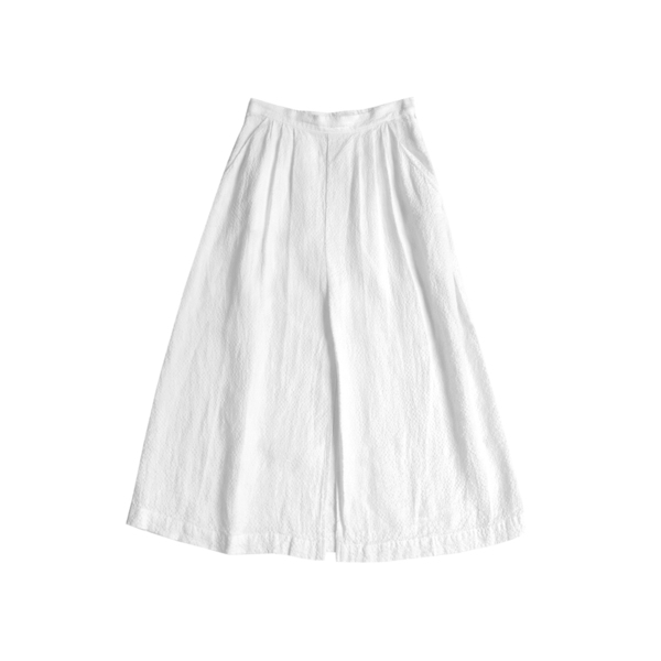 FIRSTRITE PLEATED SKIRT - WHITE