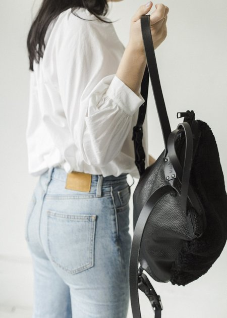 Your Bag of Holding Shearling Maxi Backpack