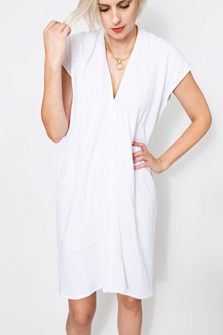 Miranda Bennett Everyday Dress, Lined Cotton Gauze in White