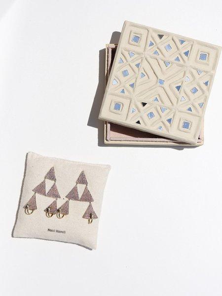 Nani Haveli Embroidery Earrings - Brass/Sterling Silver