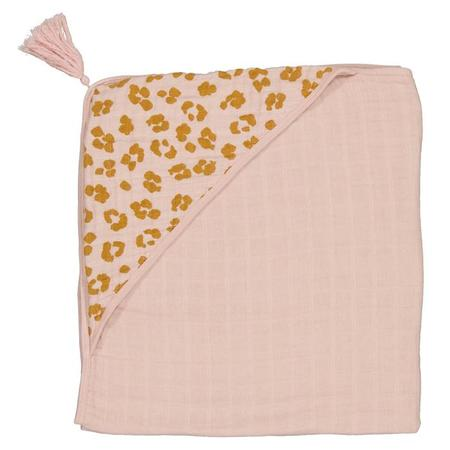 Kids Moumout Paris Sybel Hooded Towel - Nu Pink/Savannah Print