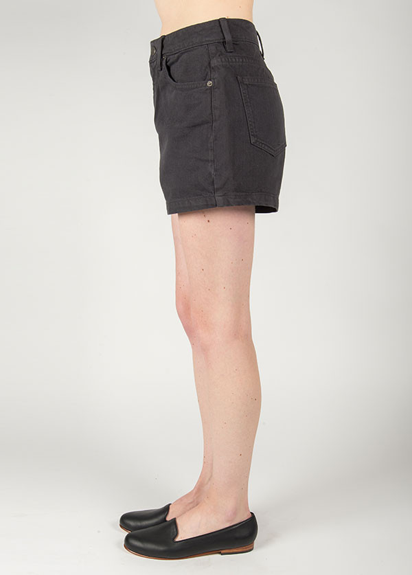 Objects Without Meaning - Hi-Rise Denim Short in Coal