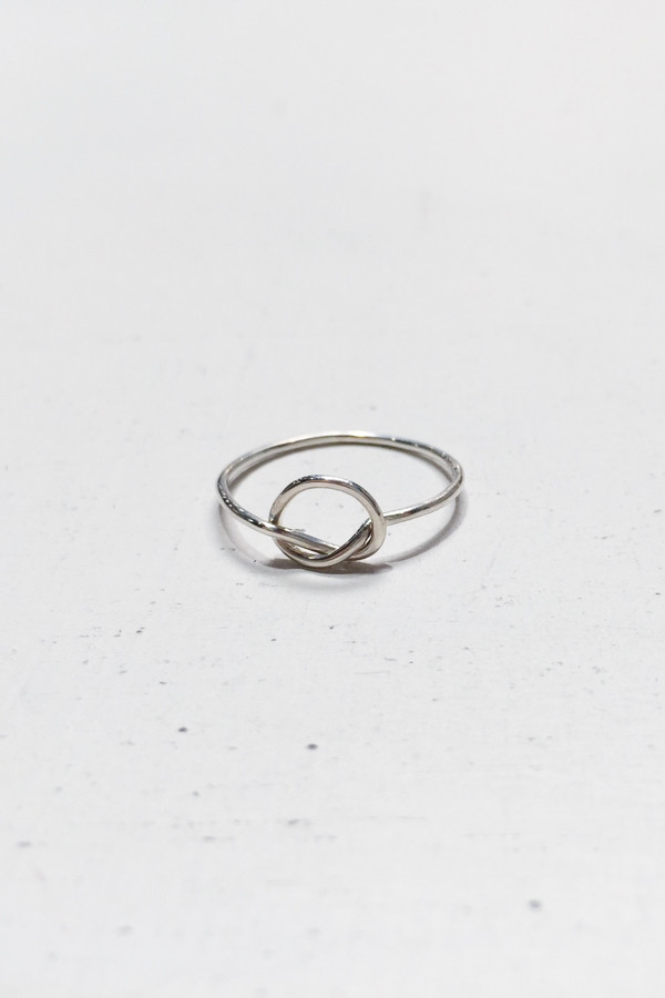 Bario Neal Knotted Rush Ring - Sterling Silver