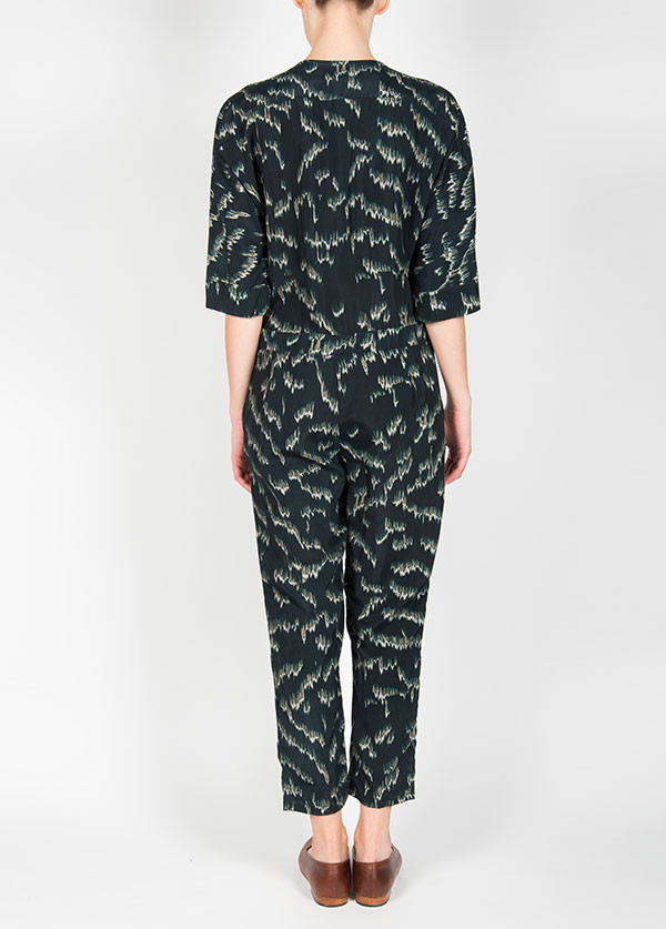 Objects Without Meaning - India Jumpsuit in Navy Aurora