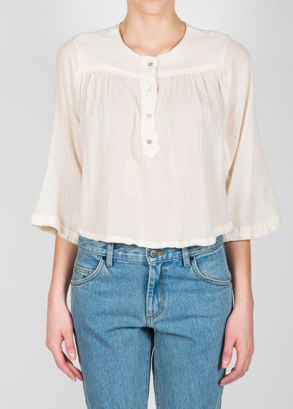 Objects Without Meaning - Kenza Top in Chalk