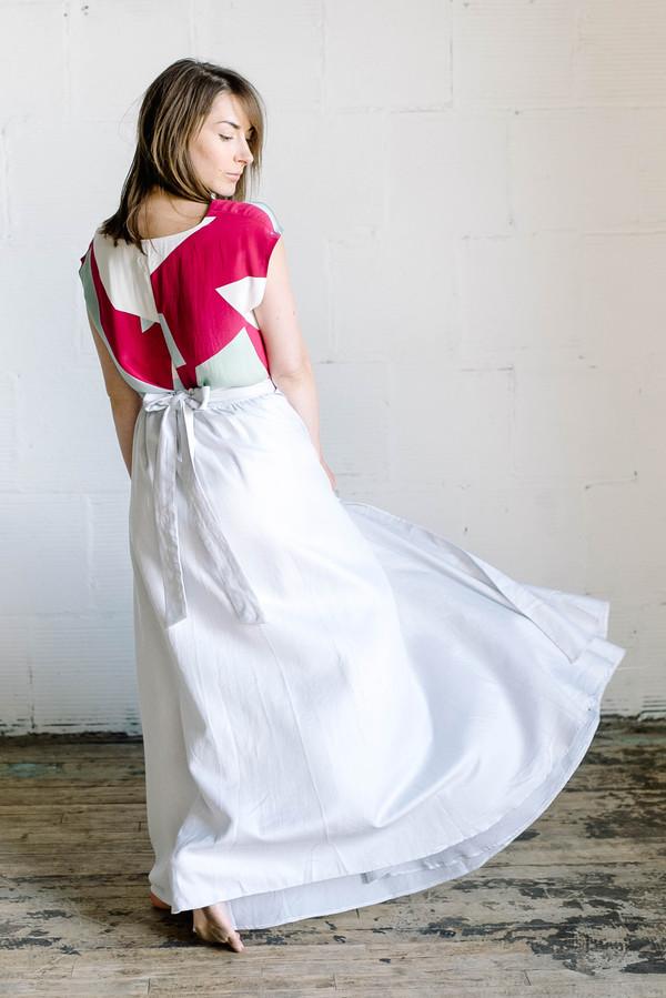 House of Gina Marie Wrap Maxi Skirt