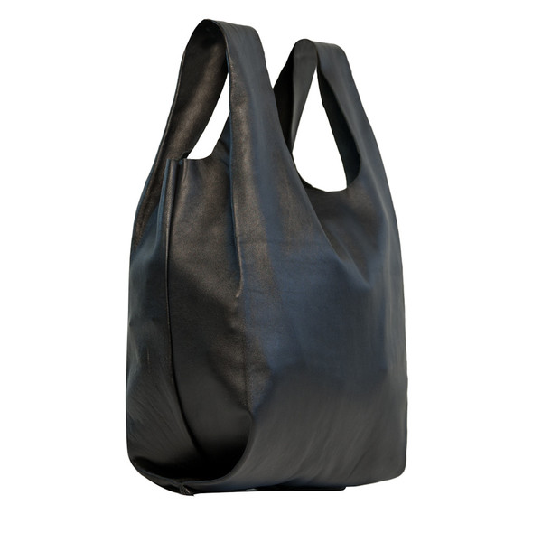 Bodega Bag in Black Lambskin