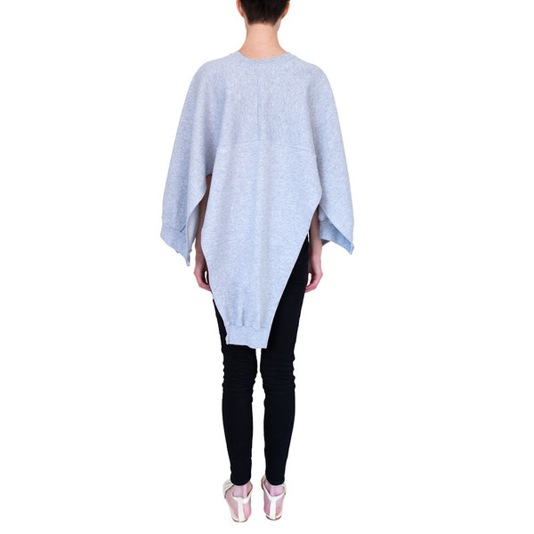 Slow and Steady Wins the Race Cape in Grey Heather