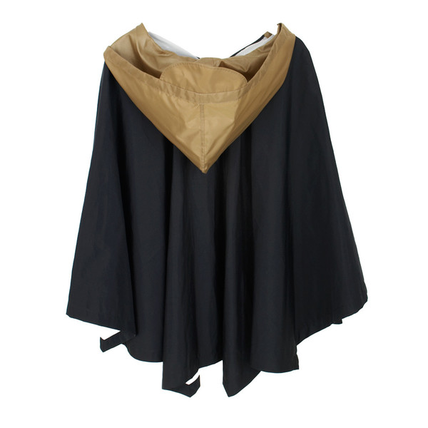 Double Falls Poncho in Black and Khaki