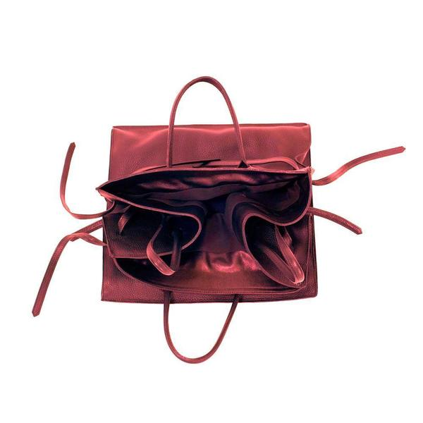 Four Sided Rectangular Bag in Red