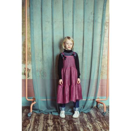 Kids paade mode mohair vasillisa dress - old pink