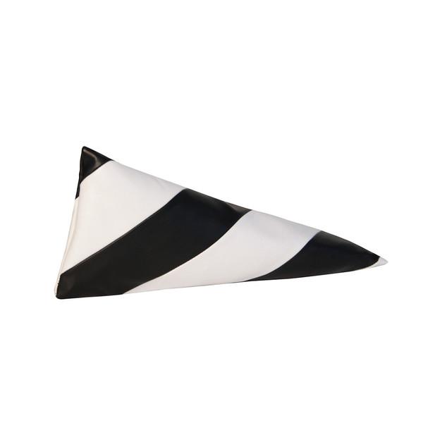 Striped Pyramid Pencilcase, Black White