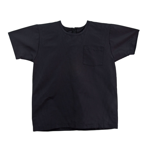 Slow and Steady Wins the Race White T-Shirt in Black Coated Linen