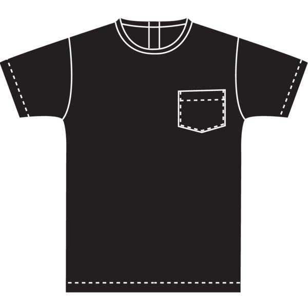 White T-Shirt in Black Panne Velvet