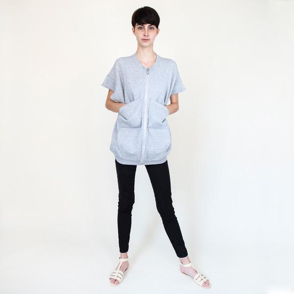 Zipper Vest in Grey Heather