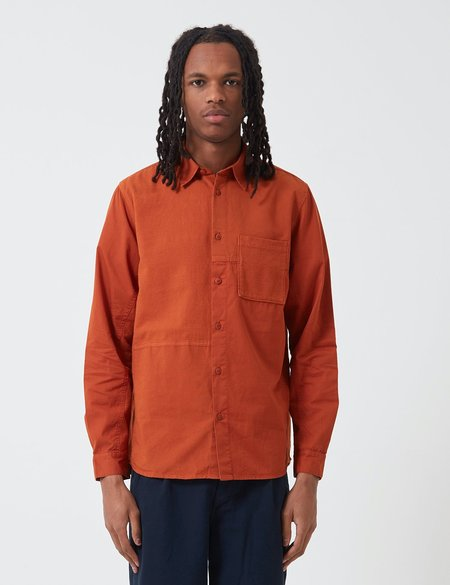 Folk Fraction Cord Shirt - Cinnamon Orange