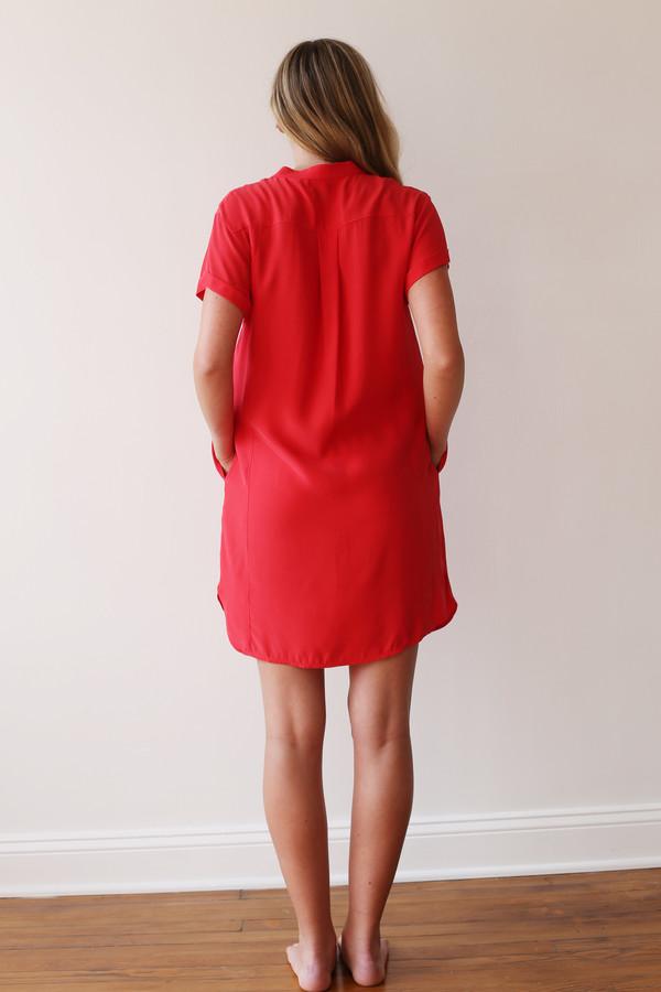 FRAME Denim Lace Up Dress
