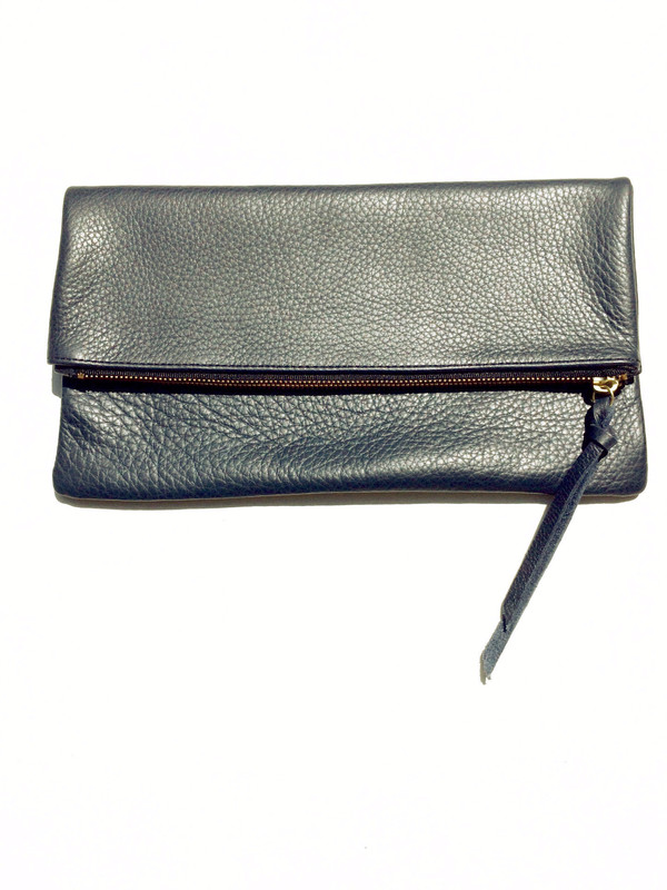 Oliveve Anastasia In Grey Pebbled Cow Leather