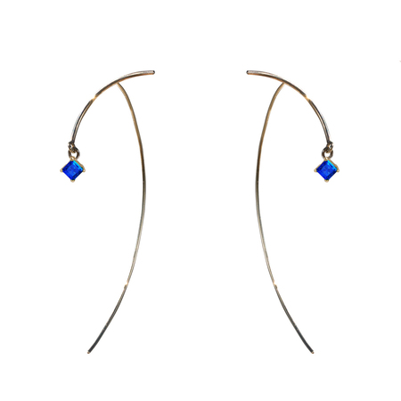 Tara 4779 Arc Stabile Earrings - Sapphire