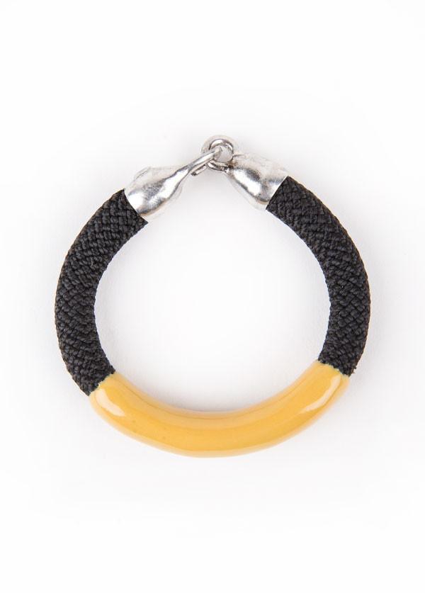 Orly Genger by Jaclyn Mayer - Annabelle Bracelet in Noir and Ochre