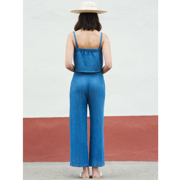 FIRST RITE - Wide Trouser Denim