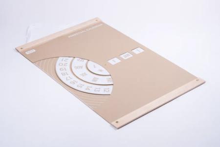 Tait Design Co. White perpetual calendar