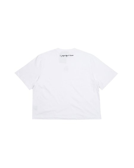 Lazy Oaf I Prefer Dogs T-shirt - White
