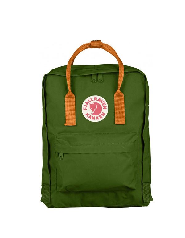 Fjallraven Kanken Backpack Leaf Green Burnt Orange