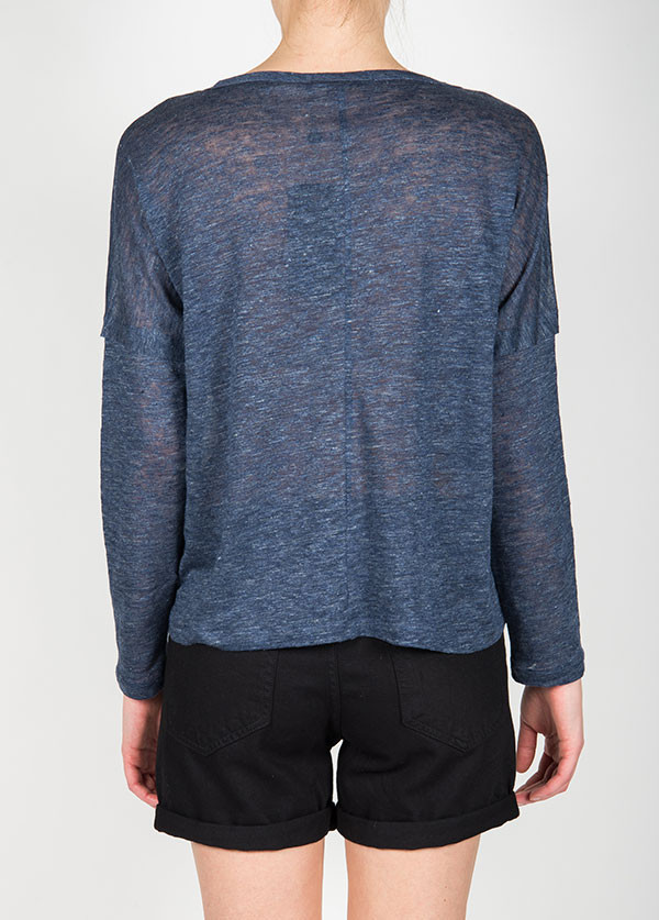 Rag & Bone - Deal Long Sleeve Tee in Indigo