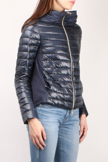 Herno A Line Jacket with Pleated Back - Navy