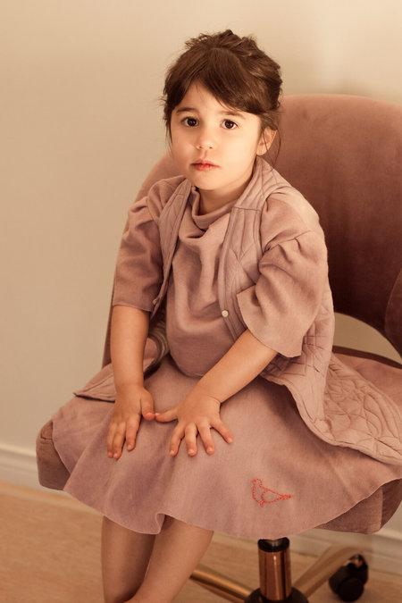 Kids Petit Mioche Organic Bicolor Merino Wool Dress