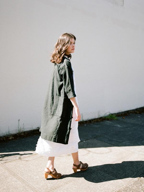 duo nyc,jacket,vintage DUO NYC Vintage Black Linen Jacket