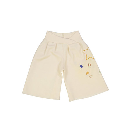 Kids Petit Mioche Organic Embroidered Merino Wool Culottes - Star and Shooting Star