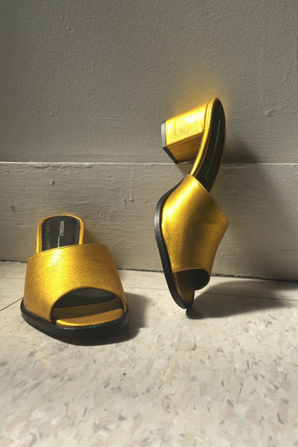 Intentionally Blank Yellow Fun Heel