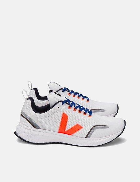 Veja Condor Mesh Running Shoes - White/Orange Fluo