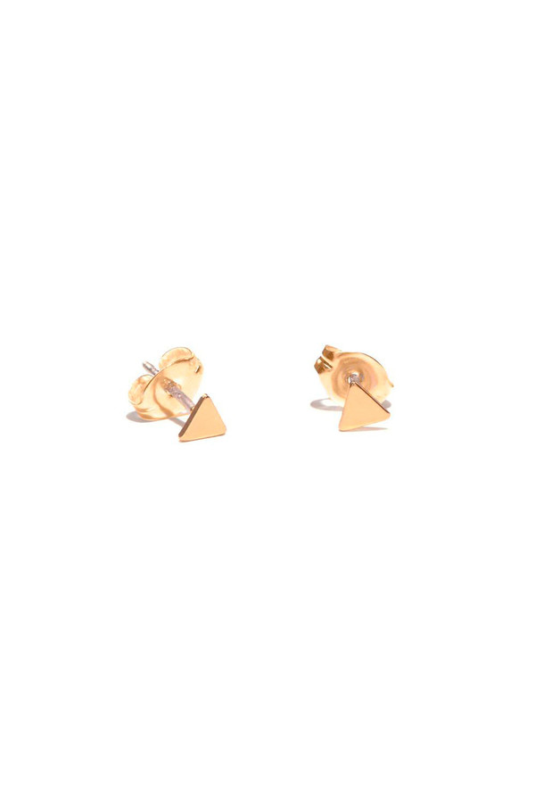 Bing Bang NYC Tiny Triangle Studs 14k