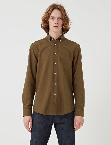 Portuguese Flannel Belavista Button Down Shirt - GREEN