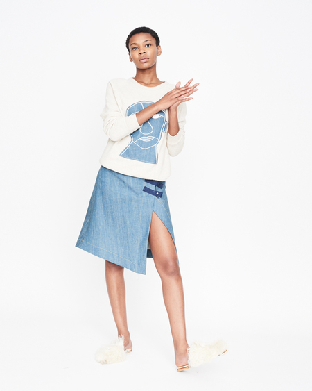 William Okpo Xena Skirt Denimed