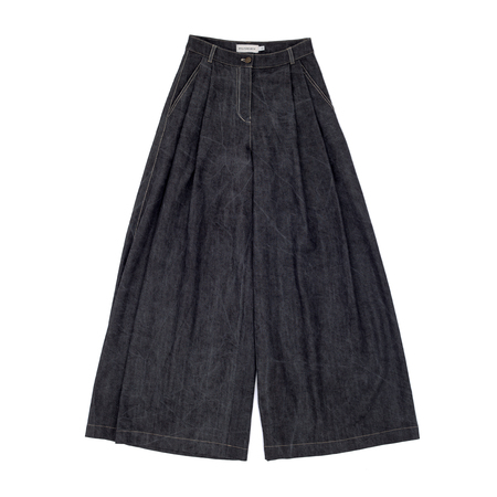 Polyhedron Peated Jeans - Gray