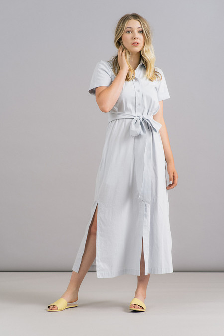 Ganni Misaki Cotton Long Shirtdress