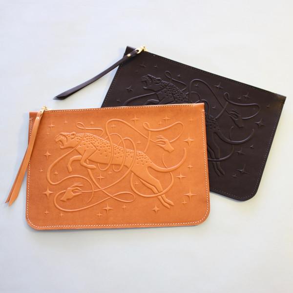 Animal Handmade hex pouch