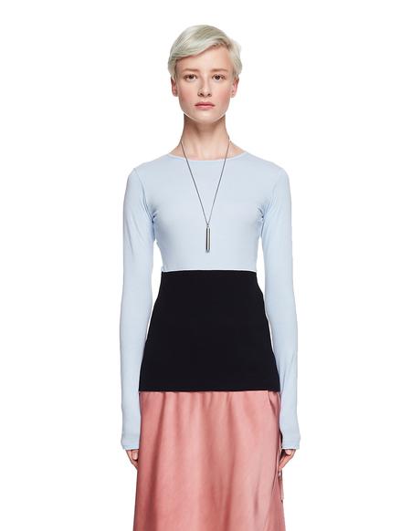 Haider Ackermann Cotton/Ramie L/S T-Shirt - Blue