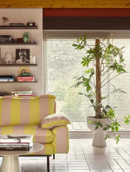 An Artful Life Large Metal Plant Pot - White