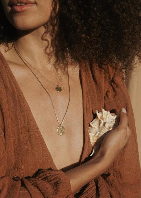 Amanda Hunt Circle Necklace - Bronze