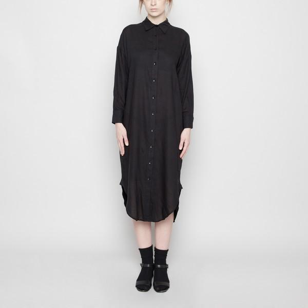 7115 by Szeki Dolman Shirt-Dress- Black FW16